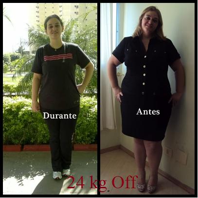 24 kg off em 3 meses e meio