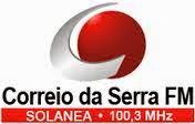 ouvir a Rádio Correio da Serra FM 100,3 Solânea PB