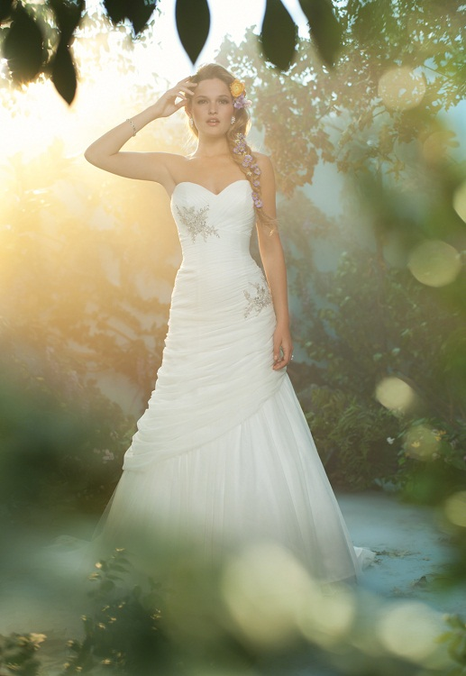 The 2013 alfred angelo disney fairy tale wedding gowns for Disney inspired wedding dresses