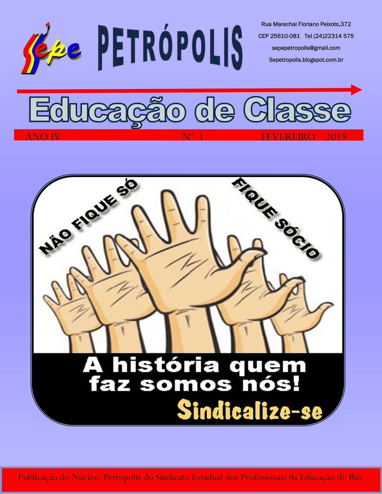REVISTA EDUCAÇÃO DE CLASSE   ANO 4    EXEMPLAR 01