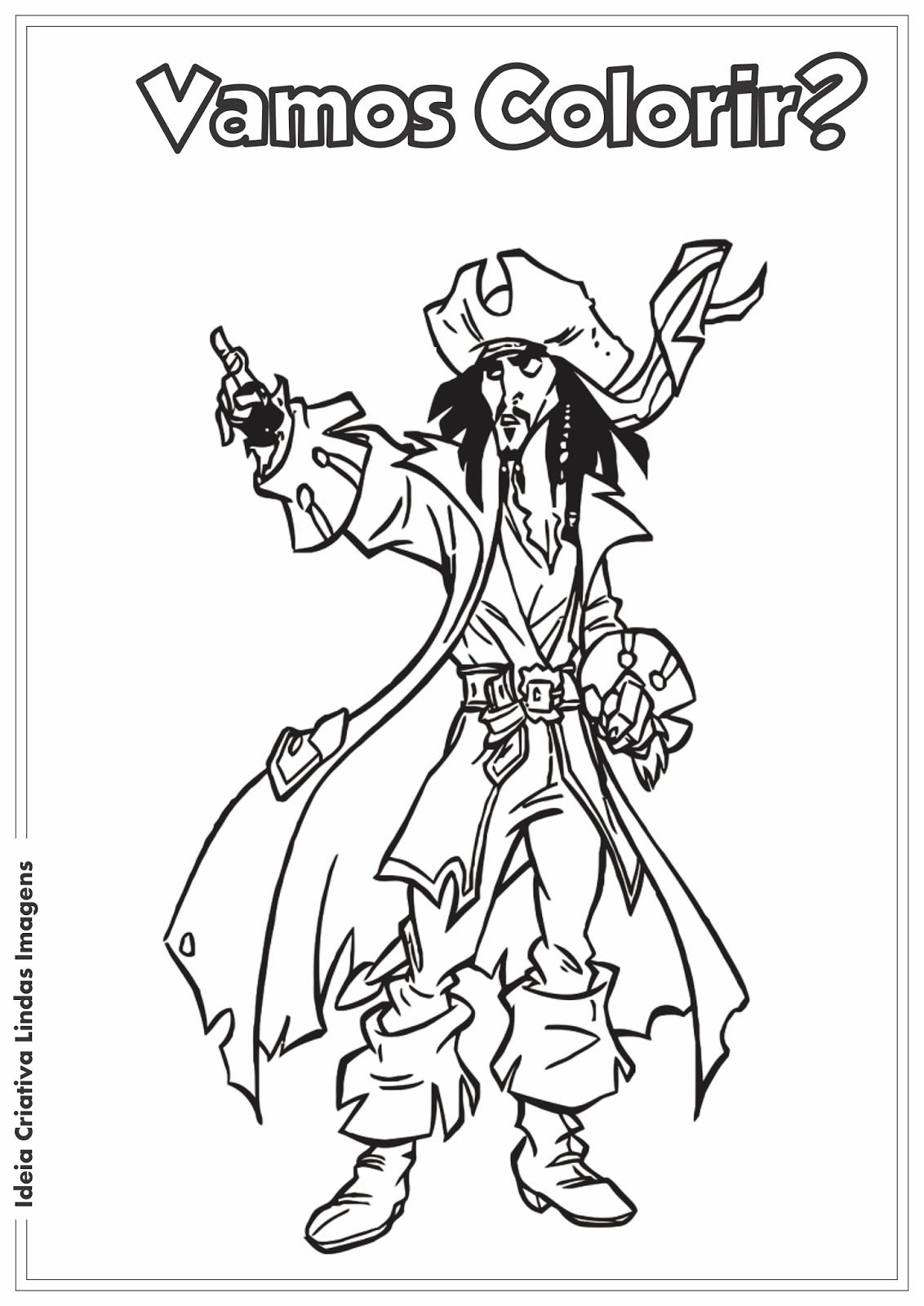 desenho para colorir piratas do caribe jack sparrow