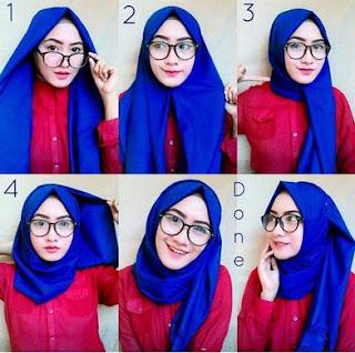 Inilah Tutorial Hijab Untuk Wanita Berkacamata