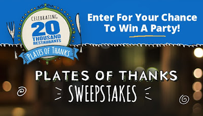 Plate of Thanks sweepstakes