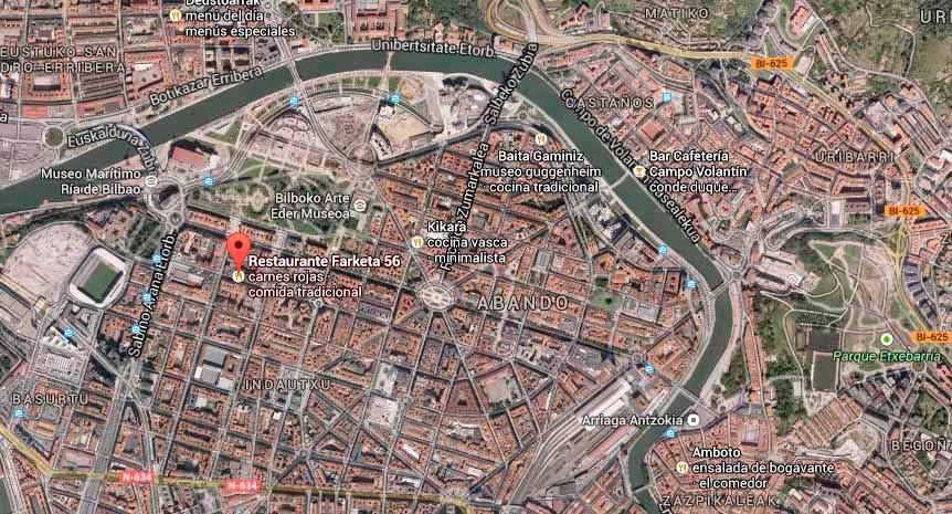 Restaurante-Farketa56-Bilbao-Mapa