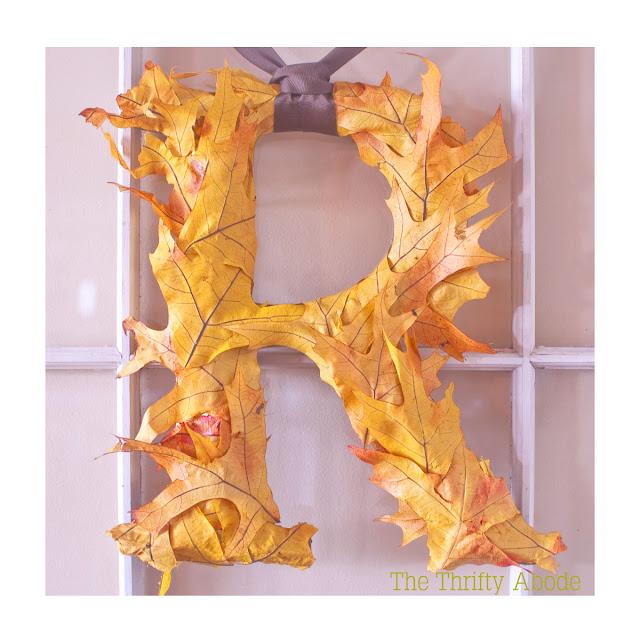 Leaf Monogram Wreath | The Thrifty Abode