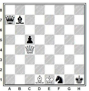 Problema ejercicio de ajedrez número 815: Estudio de M. Matous (Schachmaty/Sahs, 1979)