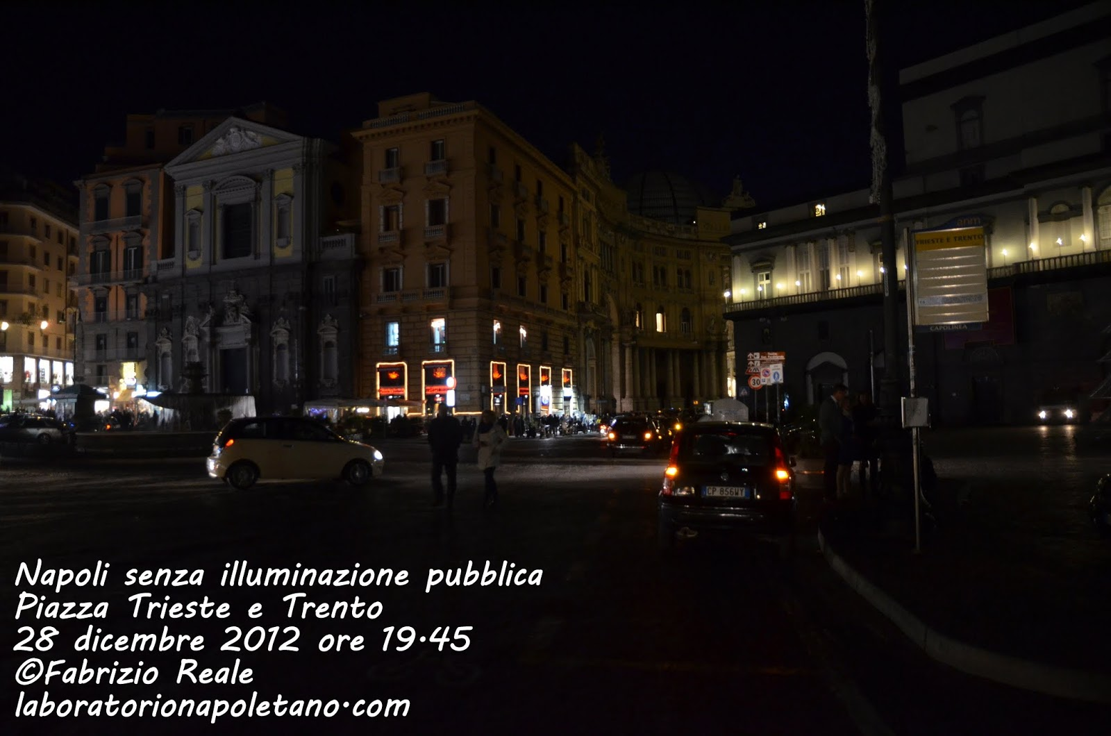 LaboratorioNapoletano.com: Napoli al buio: il centro senza illuminazione pubb...