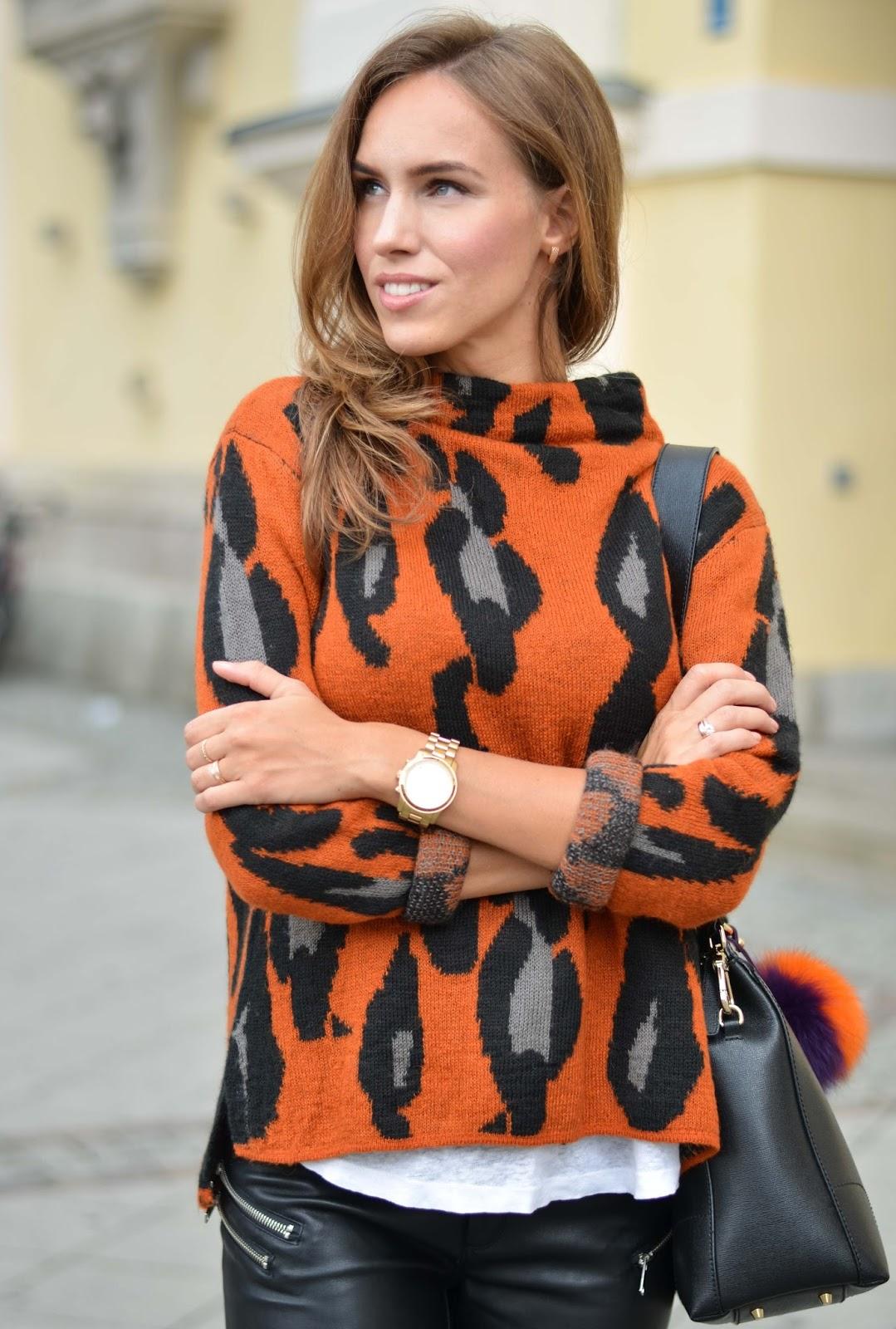 kristjaana mere lindex leopard sweater fall 2015