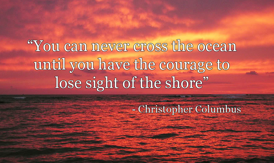 ocean background quote
