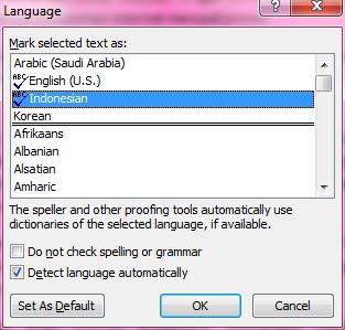 menjadi seperti ini. Hanya kata - kata asing (diluar kamus Indonesia ...