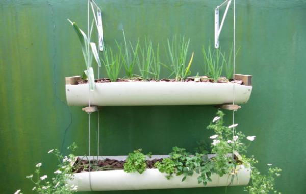 jardim vertical tubo pvc:Liliane Furlan