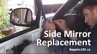 installing Chevy Blazer driver's side mirror