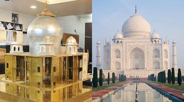 Replika Taj Majal Dari Bahan Perhiasan Seharga Rp 117 Milyar
