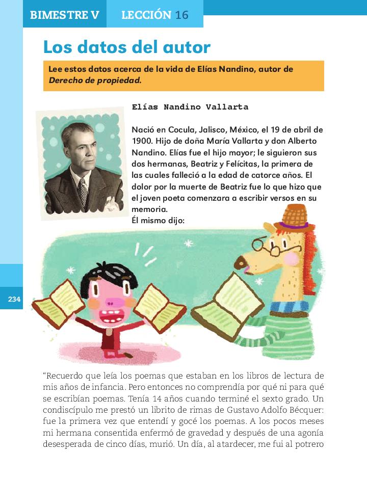 Los datos del autor español 2do bloque 5/ 2014-2015