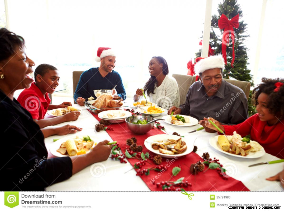 Black Families Enjoying Christmas
