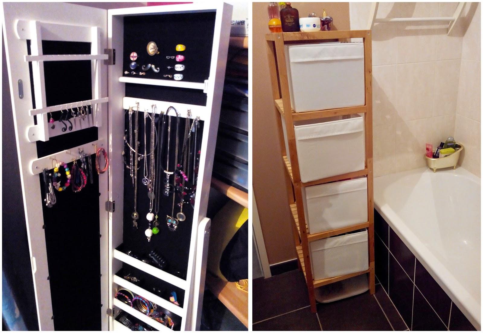 rangement, bijoux, décoration, canapé, salle de bain, bullelodie