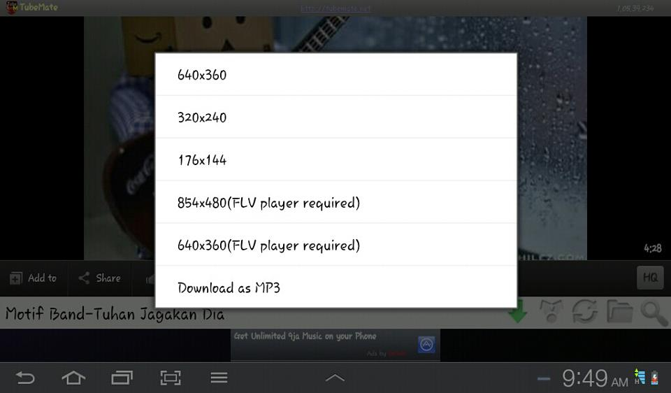 how to download youtube videos in samsung galaxy tab 3