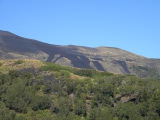 Le colate dell'eruzione del 2002