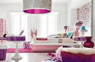 bedroom pink woman girly interior design