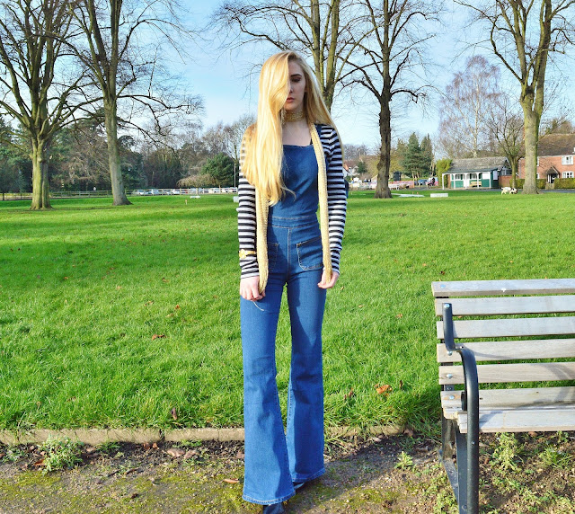 Flared Dungarees