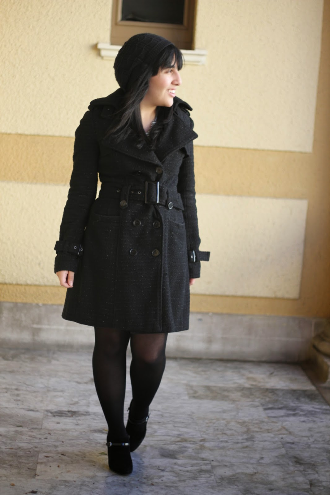 Classic Black Trench