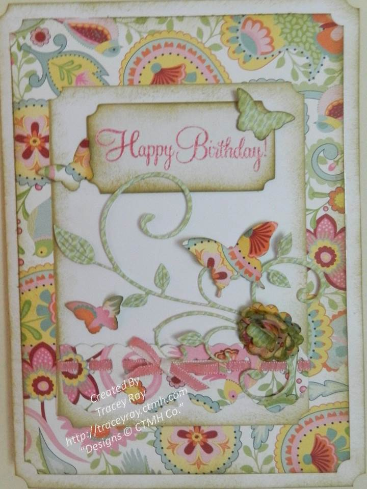 "close to my heart  tracey ray  ""let me show you how"" close to, Birthday card"