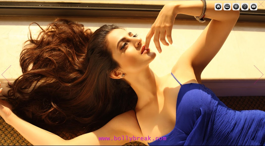 Amisha Patel Hot Wallpaper - Blue Dress