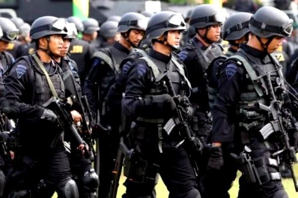 Densus 88. Kotabumi Lampung Utara