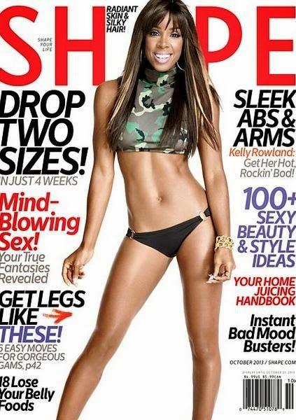 Kelly Rowland, Shape Magazine,