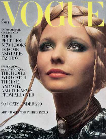 Kupkayke Head 1960 Beauty A Decade Of Vogue Covers