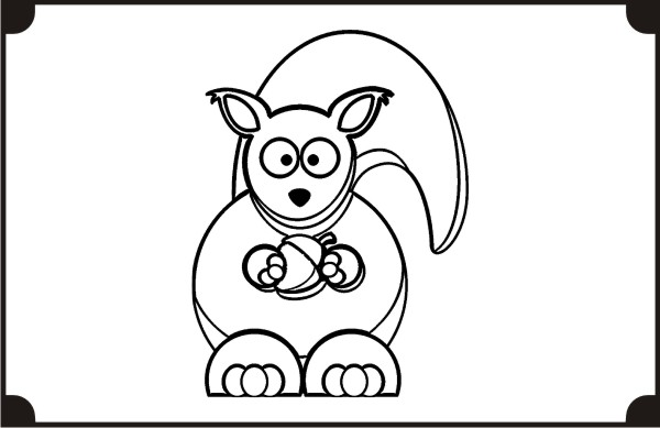 printable-squirrel-coloring-pages