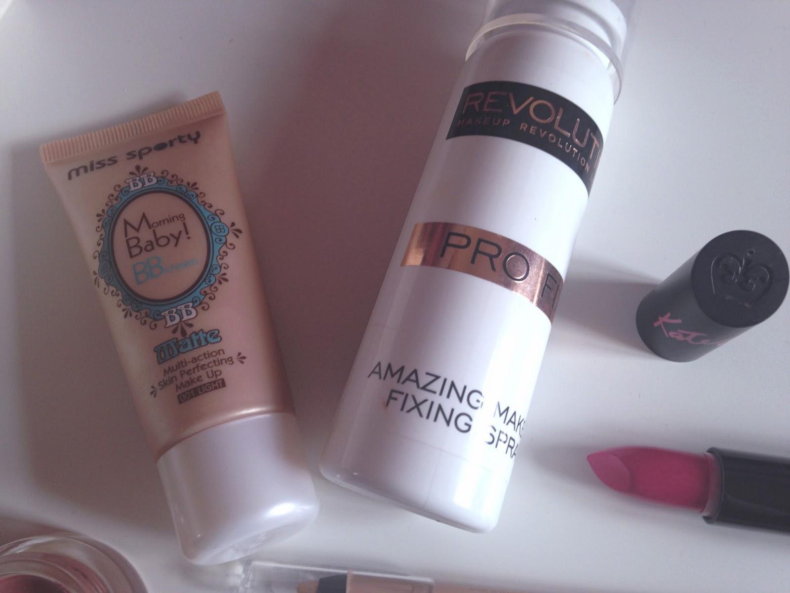 Miss Sporty Matte BB Cream Makeup Revolution Amazing Makeup Fixing Spray