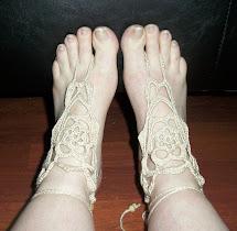 Crochet Barefoot Sandals Foot