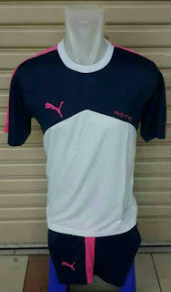 GAMBAR DETAIL Jersey setelan futsal Puma Evo TRG warna navy terbaru musim 2015/2016