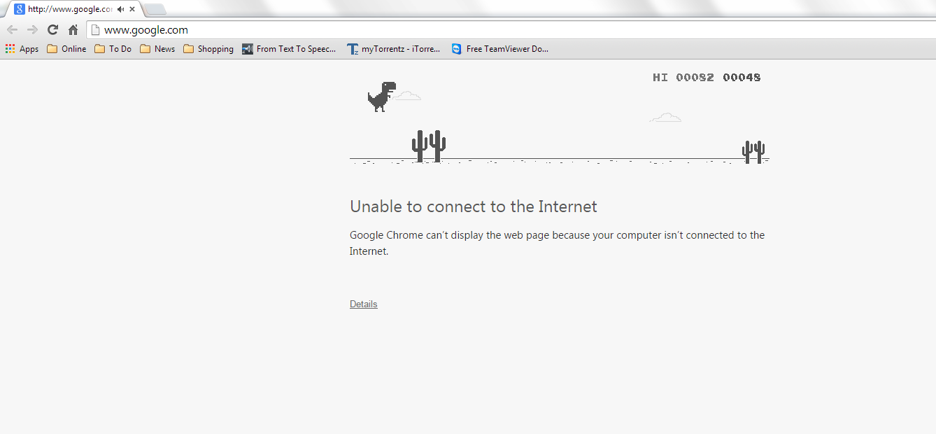 Offline Hidden Game of Google Chrome dinosaur game offline