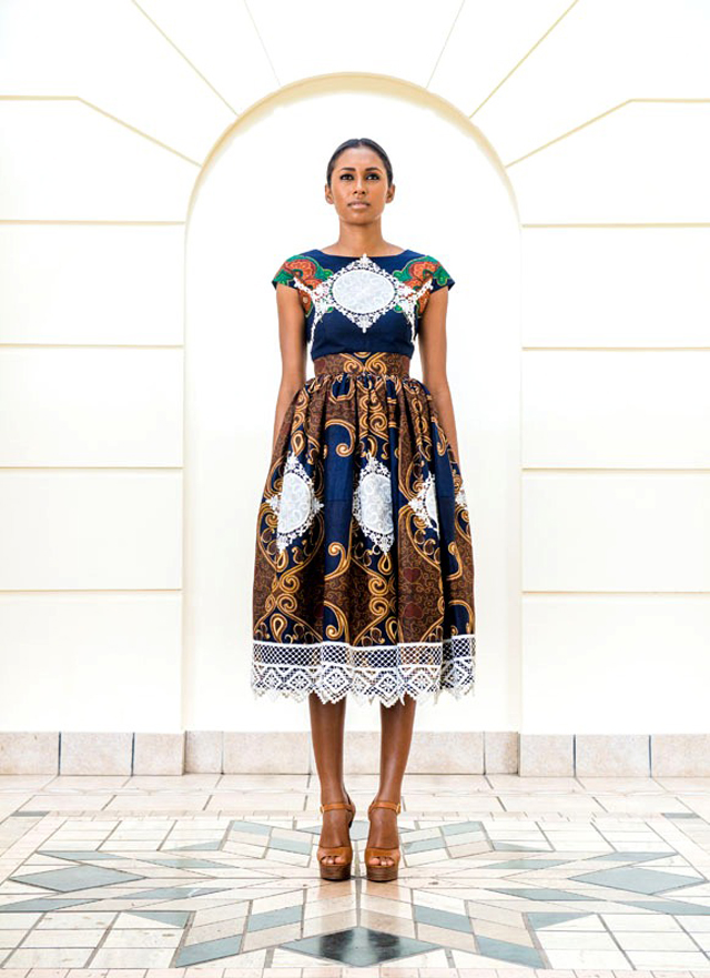 Taibo Bacar's F/W 2013 lookbook- kitenge-style-dress
