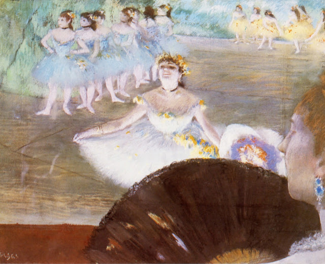 dancer with bouquet,flower girl,impressionism painting