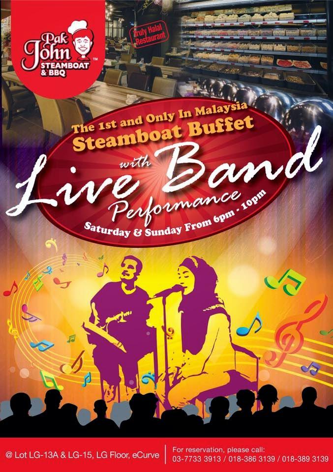 Live Band Voscape Pak John Steamboat & BBQ