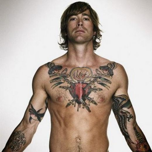 star tattoos for men on chest. star tattoos for men on chest.