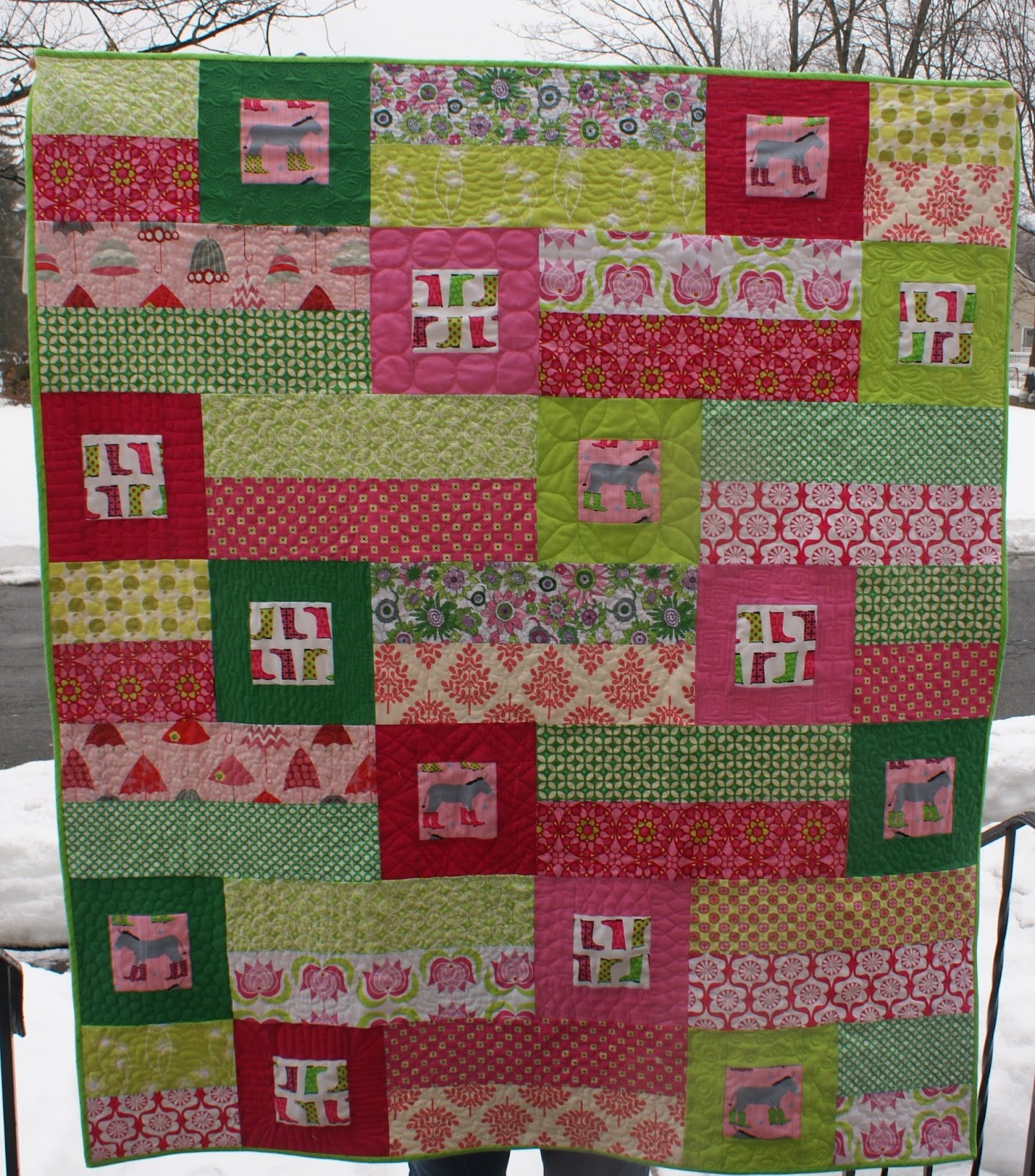 Dresden Lane: Donkey Crawl Quilt Completed