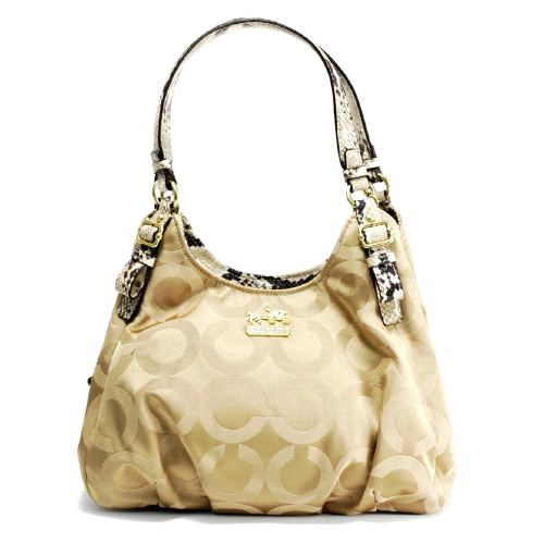Luxury Branded Bags Up to 75% Off: Coach 17689 - Madison Op Art Sateen  Maggie Bag