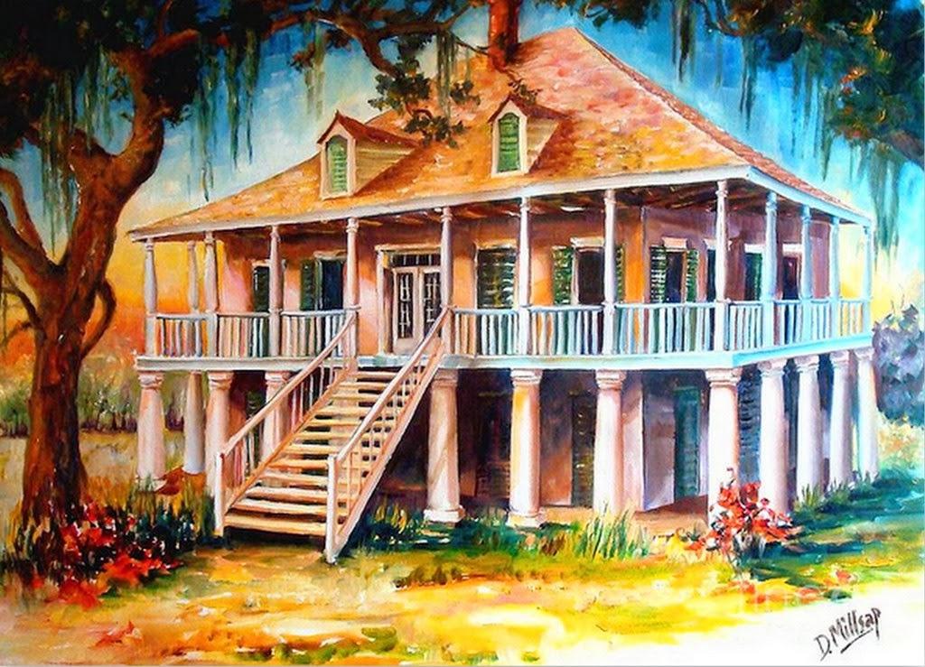 Im genes arte pinturas paisajes de casas cuadros en - Paisajes de casas ...