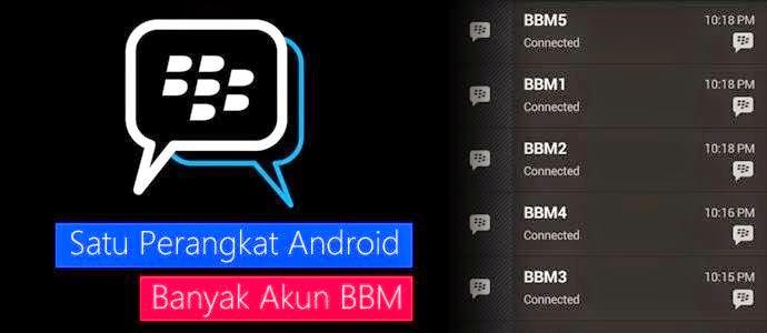 Install banyak Aplikasi atau 6 aplikasi BBM di dalam satu Android