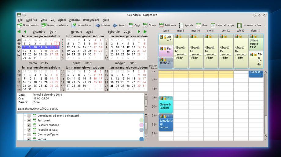 KOrganizer in KDE