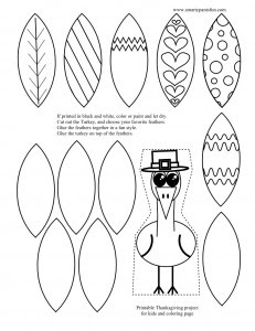 Smarty pants fun printables free printable turkey for Thanksgiving craft templates printable