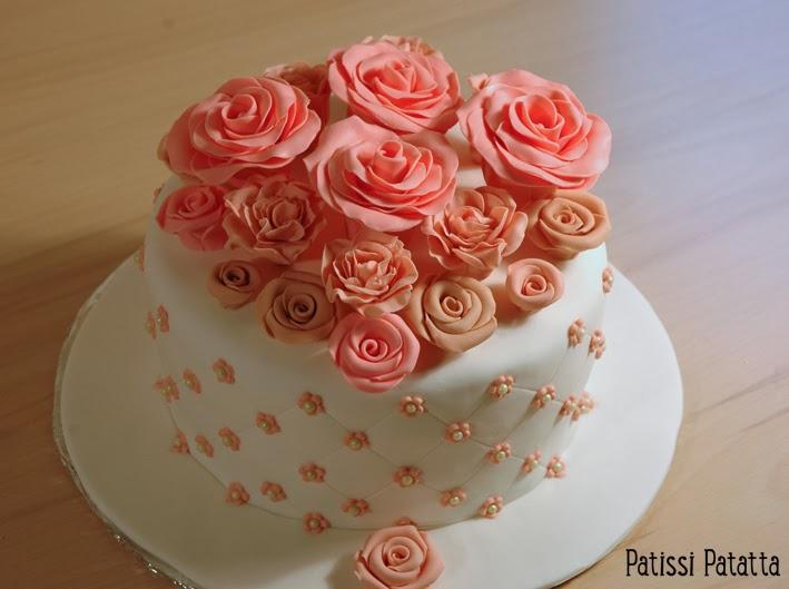 cake design, gâteau 3D, pâte à sucre, gumpaste, fondant, flowers cake, gâteau romantique, romantic cake