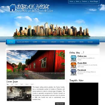 Dream Home blogger template. template blogspot free