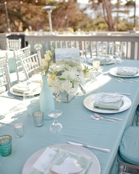 tonos turquesa y verde agua para boda