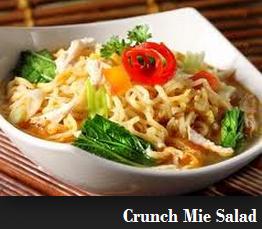 Resep Cara Membuat Crunch Mie Salad Sehat Bergizi