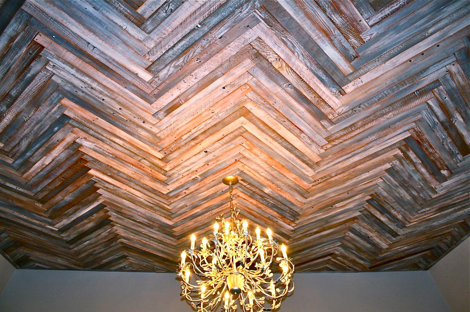 Makemeprettyagain reclaimed wood herringbone pattern for Riciclo bancali legno